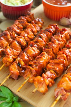Szaszłyki barbecue (bbq) Slow Cooker Bbq, Polish Recipes, Barbecue, Shrimp, Cake Recipes, Grilling, Food And Drink, Keto, Chicken
