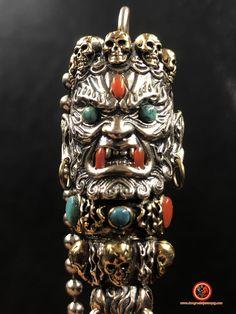 Silver copper, Arizona turquoise, agate called nan hong of Yunnan. Feng Shui Jewellery, Arizona, Tibetan Buddhism, Buddhist Temple, Turquoise, 925 Silver, Agate, Fine Jewelry, Copper