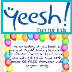 Fun Events, Kids Events, Kids Up, Cool Kids, Free Characters, Party Packs