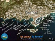 Plages (2) - Ile de Bendor, Trou Madame, Renécros - bandol.eu France, Madame, Provence, City Photo, Stars, Chic, Inspiration, Beaches, Tourism