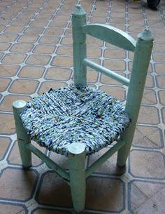 Te Hago Bolsa: Esterillado de sillas con sanchet de leche