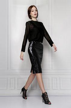 black sequins skirt furelle
