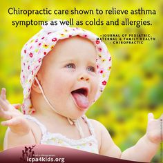 Read this full case study, here: http://icpa4kids.org/Chiropractic-Research/chiropractic-care-of-a-pediatric-patient-with-asthma-allergies-chronic-colds-a-vertebral-subluxation.html