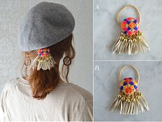 Fabric Jewelry, Diy Jewelry, Beaded Jewelry, Handmade Jewelry, Handmade Hair Accessories, Hair Accessories For Women, Beaded Embroidery, Hand Embroidery, Hair Rubber Bands