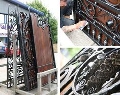 Why choose Hardwood Gates over Iron gates when you can combine the 2! #Gate #IronGate #WoodenGate #Hardwood #WroughtIron #Design #Driveway #Bespoke #Entrance