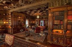 Hearst Castle Library in California, USA