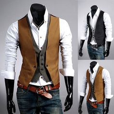 Free-Shipping-Mens-Dress-font-b-Vest-b-font-Waistcoat-Casual-Blazer-Mens-False-Two-font.jpg (598×600)