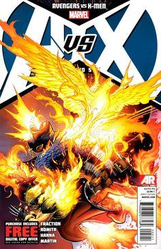 Vingadores versus X-Men 05 capa por Jim Cheung