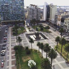 Praça da Independência vista de cima do Palácio Salvo. #vistaincrivel #palaciosalvo #plazadelaindependencia #uruguay #montevideu #uruguai #montevideo