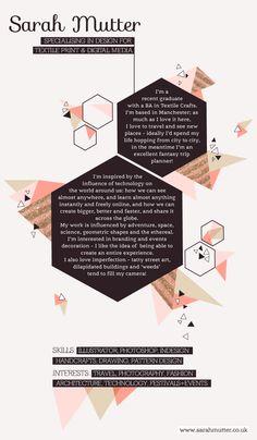 'About me' page  - Sarah Mutter - Digital Design + Illustration Portfolio