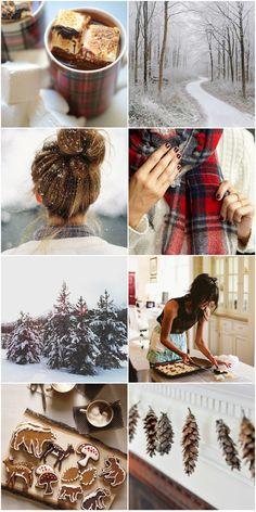 Hot Chocolate, Tartan, Snow & Cookie Cutters | Moodboard 04 | Festive Snow | Joy Felicity Jane