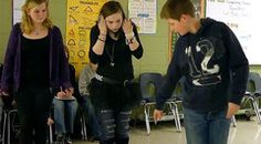 """whole body graphing"" of linear equations - classroom video on Teaching Channel."