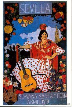 Cartel Feria de Primavera de Sevilla 1919
