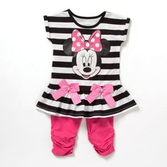 Toddler Minnie Stripe Top And Leggings - cute!