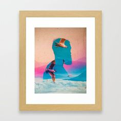 Expectations Of Reality Framed Art Print by seamless Surreal Collage, Wall Decor, Wall Art, Sci Fi Art, Wood Colors, Dark Wood, Framed Art Prints, Wall Tapestry, Surrealism