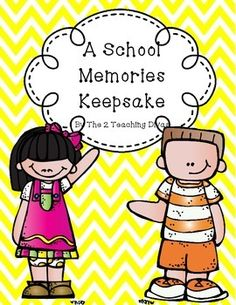 UPDATED Graphics/Fonts!!!! A wonderfully cute end of the year memory book for grades pre-k-4th grade!  Capture all of your students' learning and growth in this fun and engaging pack!  It includes everything you need to wrap up your memorable year!  Most every page comes in both color and black and white.