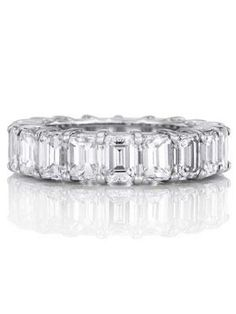 Baguette anniversary eternity band