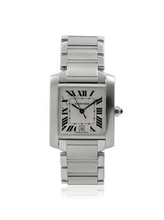 Cartier Men's Tank Francaise Silver Stainless Steel Watch