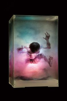 Distorted, Hyperrealistic 'Spatial Paintings' On Glass Panels by Chinese artist Xia Xiaowan.