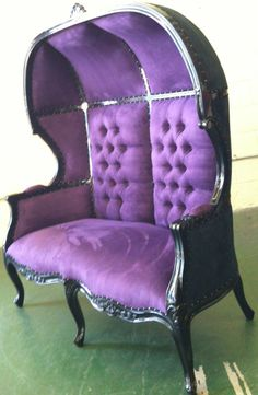 Black and Purple Porters Sofa Chair Domed by VENETIANSOCIETY, $1689.00
