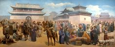 Karakoram City Scene from the Genghis Khan Era
