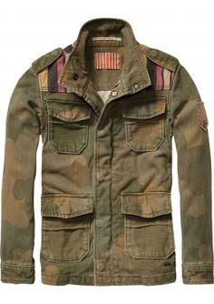 Stoere army jas voor jongens uit de voorjaarscollectie van Scotch Shrunk | ♥ eb-vloed.nl