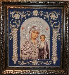 Казанская Богоматерь в рамке Изящное рукоделие (Украина)