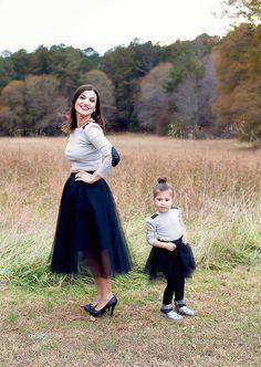 Girls Tulle Skirt Mommy Daughter Skirt Mommy and Me by EllaEman