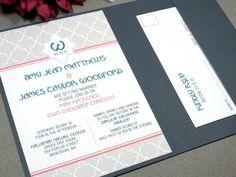 Art Deco Monogram Wedding Invitation Set by by RunkPockDesigns