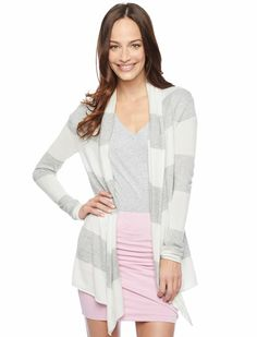 Splendid Official Store, Cashmere Blend Cardigan, white heather grey, Womens : Sweaters, SE5692X2
