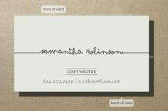 Nos encanta la tarjeta de visita de Samantha Robinson. ¿Y a ti?