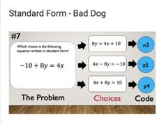 Standard Form of Linear Functions – Bad Dog Breakout for Google Classroom! Google Classroom, Math Classroom, Teaching Math, Teaching Ideas, Linear Function, Standard Form, Test Prep, Educational Technology, Math Lessons
