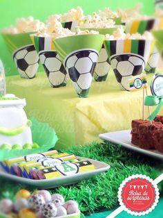 Breakfast, Party Ideas, Football, Food, Soccer, Brazil, Dessert Tables, Fiestas, Decorations