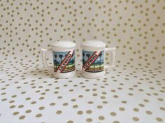 California Shakers~Mug Style~Salt and Pepper Shakers~Retro 70's~Souvenir by RubyJeanRummage on Etsy
