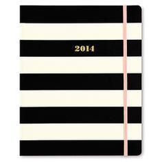 Kate Spade Black Stripe Agenda