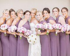Beautiful lavender #bridesmaidsdresses for the perfect summer wedding!  Photos by Clane Gessel Photography   #weddings #brideandbridesmaids