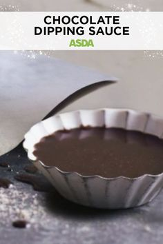 This quick and easy sauce is smooth, dark and rich, with a slight bitter tang - a luxurious and indulgent staple to any dessert. Holiday Treats, Christmas Treats, Chocolate Dipping Sauce, Golden Syrup, Asda, Vegetarian Cheese, Something Sweet, Melting Chocolate, Pie Dish
