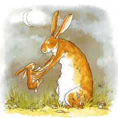 Guess how much I love you by Anita Jeram - lovely story Bunny Painting, Dibujos Cute, Bunny Art, Children's Book Illustration, Hare, Cute Drawings, Cute Art, Illustrators, Cute Pictures