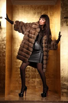Leather furs and fashion