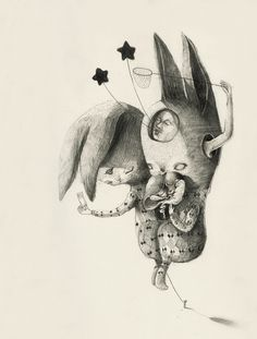 What Does a Rabbit Dream About? #illustration