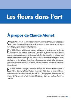 5 bibliographies d'artistes à utiliser en classe en histoire de l'art. Monet, Culture Art, History Teachers, Art Plastique, Diy Art, Art History, Books To Read, Humor, Education