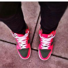 My pink Nike Maraham High Tops #loveofmylife :)