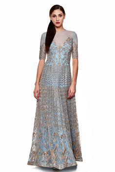 Featuring an elegant, powder blue gota pati gown. Style this beauty with minimalistic jewellery for the maximum impact.$260,000.00