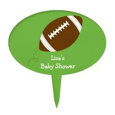 Shop Sports Football Baby Shower Cake Topper created by PoshPartyPrints. Football Themes, Sport Football, Baby Shower Cakes, Baby Shower Themes, Derby, Football Baby Shower, Cake Picks, Sports Baby, Baby Shower Supplies