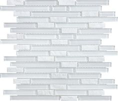 From Amazon Xen Cystal White Glass Mosaic Tiles For