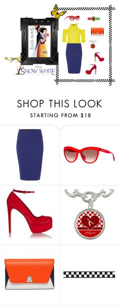 """""""Snow White Inspiration"""" by athenavxi on Polyvore featuring Sarah Pacini, Alexander McQueen, Schutz, Akris, women's clothing, women's fashion, women, female, woman and misses"""