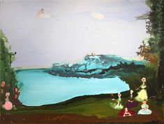 Genieve Figgis (Irish, b. 1972), Music by the Lake, 2016. Acrylic on canvas, 47 x 62 in.