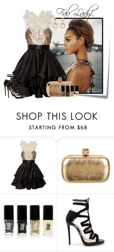 """....."" by elenb ❤ liked on Polyvore featuring Post-It, Marchesa, Alexander McQueen, Jin Soon, Jimmy Choo and Gucci"