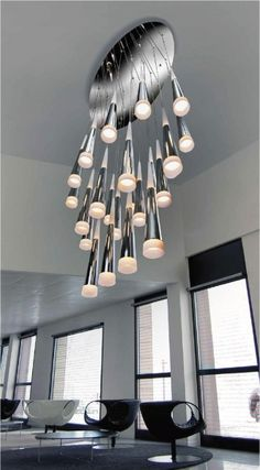 A Long Drop Attractive Pendant Great For Atriums And Entrances Lighting Styles
