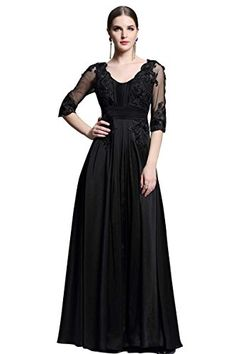 Beauty-Emily Scroop Neck Half Sleeves Formal Evening Long Maxi Dresses